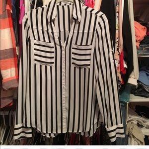 Express portofino striped top xs